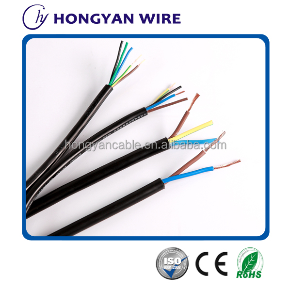 H05VV-F/RVV pvc insulated sheathed power cable electrical house wiring