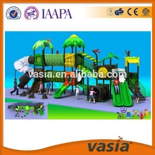 Children outdoor playground equipment big plastic slide for public park 4-14 years old