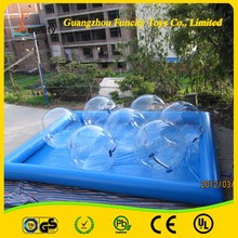 Competitive Price Inflatable Intex Adult Swimming Pool , Walking Water Balls Pool , Hamster Ball Pool