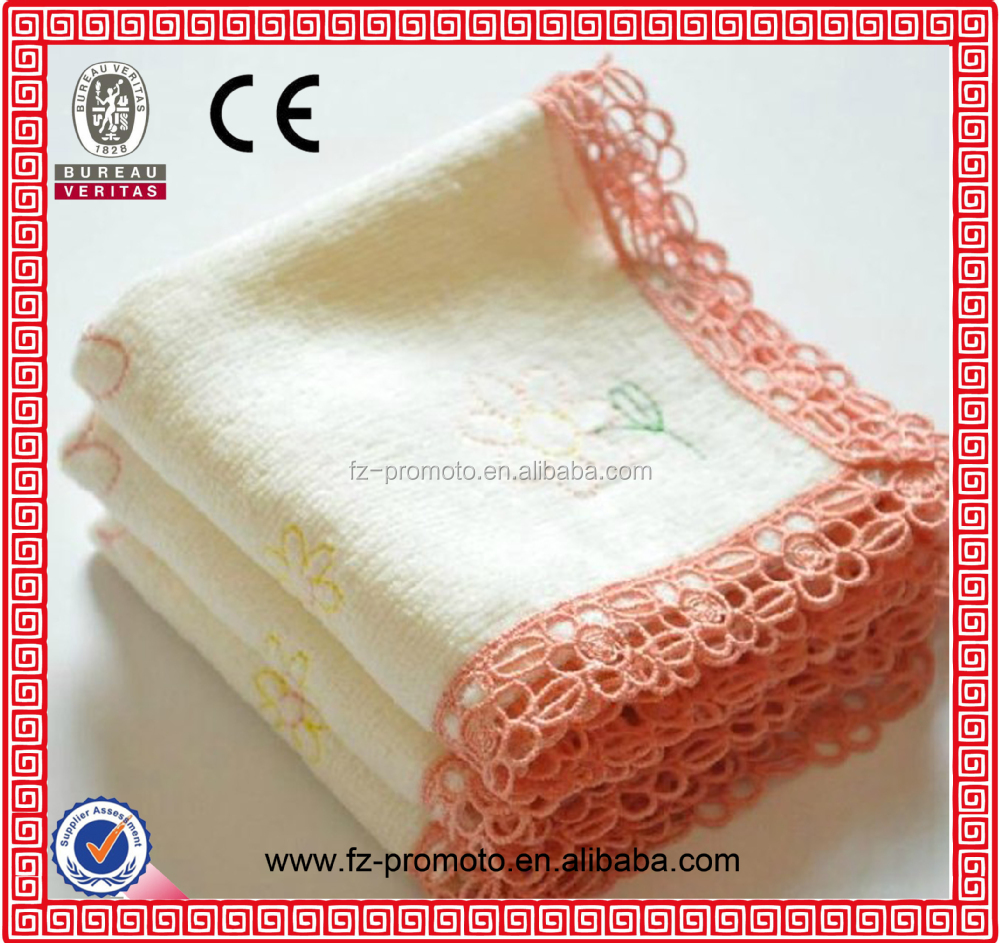 2014 Custom design Cheap Plain White Cotton Handkerchiefs