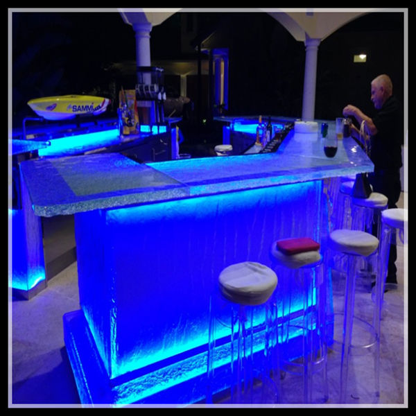 Commercial modern wine mini lighted led bar counter for sale