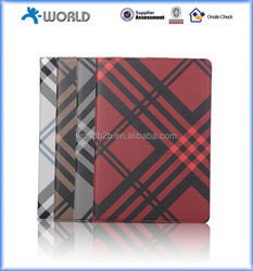 New Product Grid pattern leather case for ipad mini 4, crossing leather case for ipad mini4