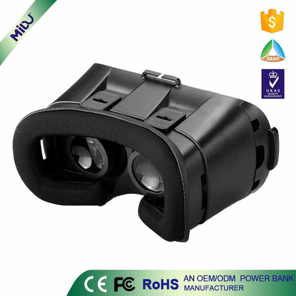 Wholesale Black RoHS certification 3D VR Box Virtual Glasses support OEM services 3d vr <strong>video</strong>