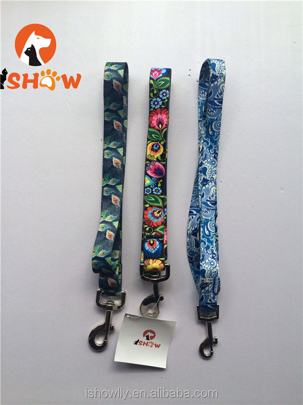pet dog collar lead leash necklate fiber nylon rope printing embroidery