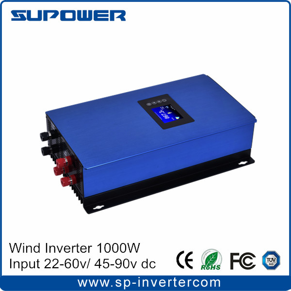 New generation 99% efficiency LCD display Wind Inverter 1000W