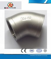 304L or 316L Stainless Steel Casting Pipe Fittings Female Thread 45 Degree Elbow