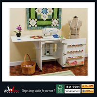 20% off Hideaway Drop-Leaf Mobile sewing machine wooden table