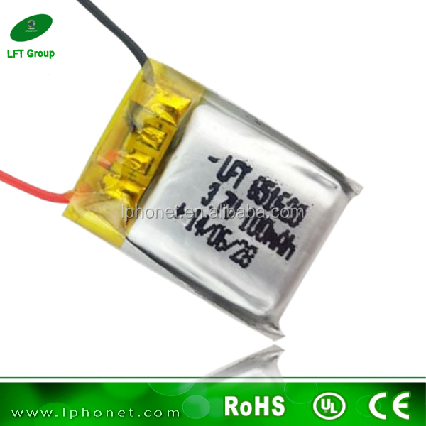 li-ion battery 3.7v 100mah Rechargeable lipo battery for rc toys/hobbys