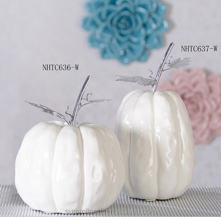 Decorative artificial white pumpkins wholesale