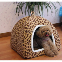 Premium quality best-selling yurt style leopard bed cheap dog house cage