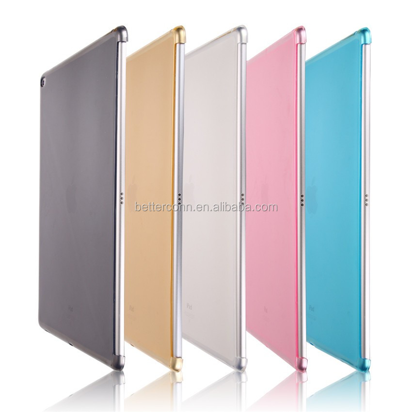 2016 TPU Soft Matte Transparent Ultra Thin partner shell Silicone Back Protective Case For iPad Pro 12.9 inch