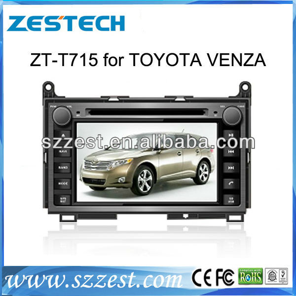 ZESTECH car dvd for Toyota Venza Car DVD GPS navigation,Bluetooth,ipod,PIP,Games,Dual Zone,Steering Wheel Control
