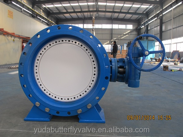 Flange type rubber seal butterfly valve weight