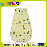 organic 100% cotton cute clothes sleeping baby bag