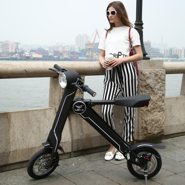 Battery Powered electric Folding carbon complete motorcycle from Lehe