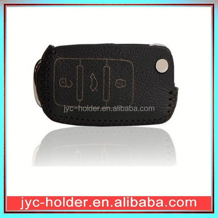 SY162 real leather flip car key cover
