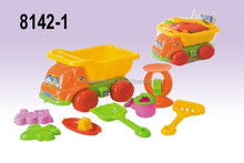 Funny Summer Plastic Sand Beach Toy Truck,8pcs/set