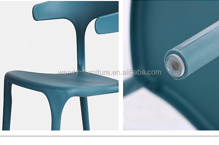 luxury white color plastic chair for restaurant
