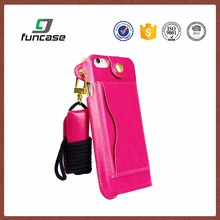 Customized cell phone case with chain leather phone cover case for lg ms769