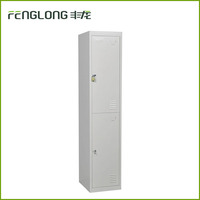Steel furniture locker metal bedroom wardrobe double door tall cloth storage locker cabinet