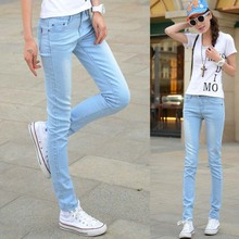 W18116 Cotton elastic female jeans 2015 jeans wholesale jean manufacturers