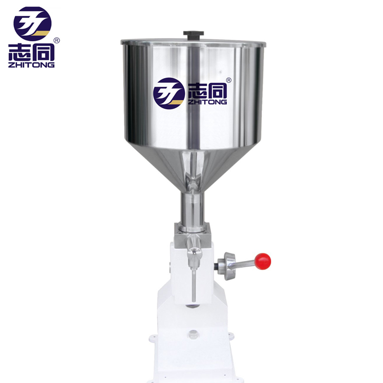 Factory price <strong>A03</strong> 5-50ml small manual piston bottle liquid <strong>filling</strong> <strong>machine</strong> for cream shampoo cosmetic