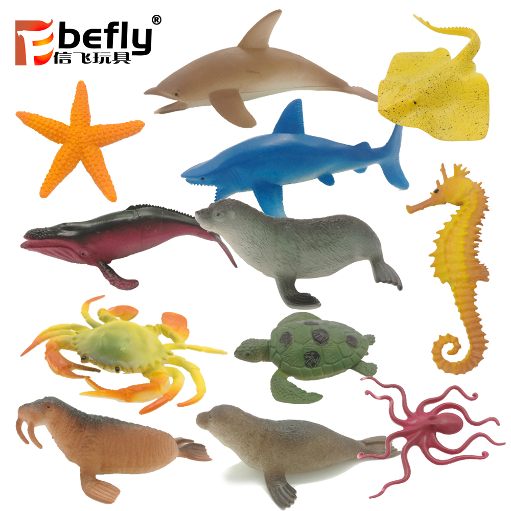 12 kinds mixed package sea animal world plastic toy