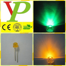 Mist colloid yellow -green led 5mm straw hat