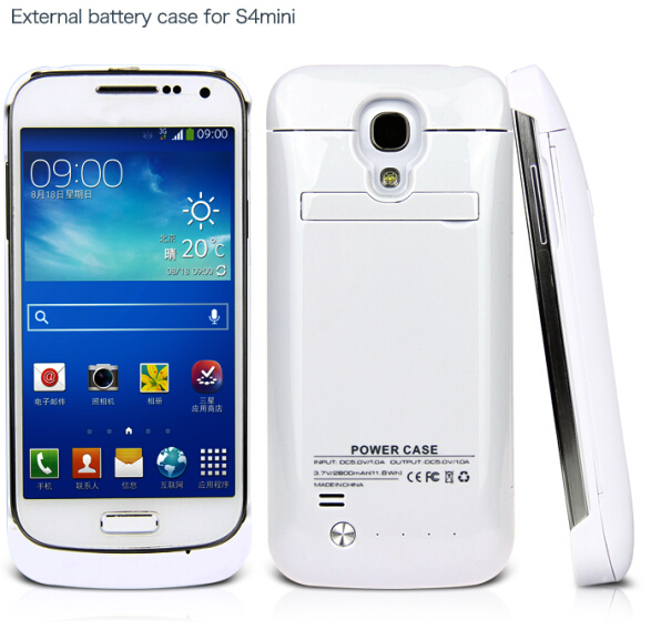 Hot sell external back battery case for Samsung galaxy S4 mini 2800mAh