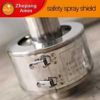 Metal spray guard protects against dangerous