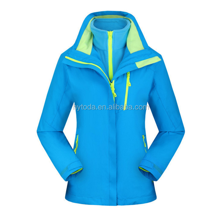 Waterproof jacket 5000mm outdoor orange custom team jacket travel