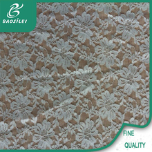 new arrival african crocheted nylon&spandex lace fabrics for wedding dress