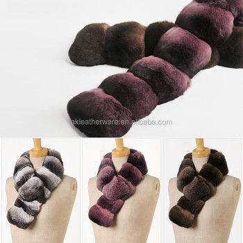 Fur Accessories Manufacture Top Quality Chinchilla Scarf