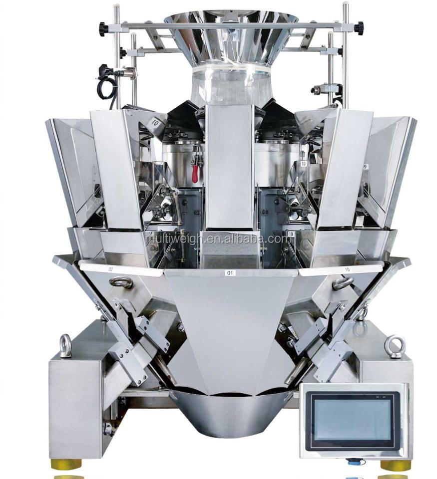 14 head multihead weigher for caramel,dates,seeds,sugar,tea,chips,coffee bean,beans,dried fruit,walnet kernel,etc