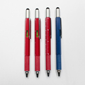 6 In 1 Multifunction Tool Metal Pen With Screwdriver,Stylus,Bubble Level,Ruler
