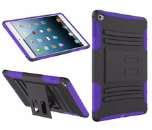 Shock absorb slim stand armor silicone case for iPad mini 4 7.9' iPad