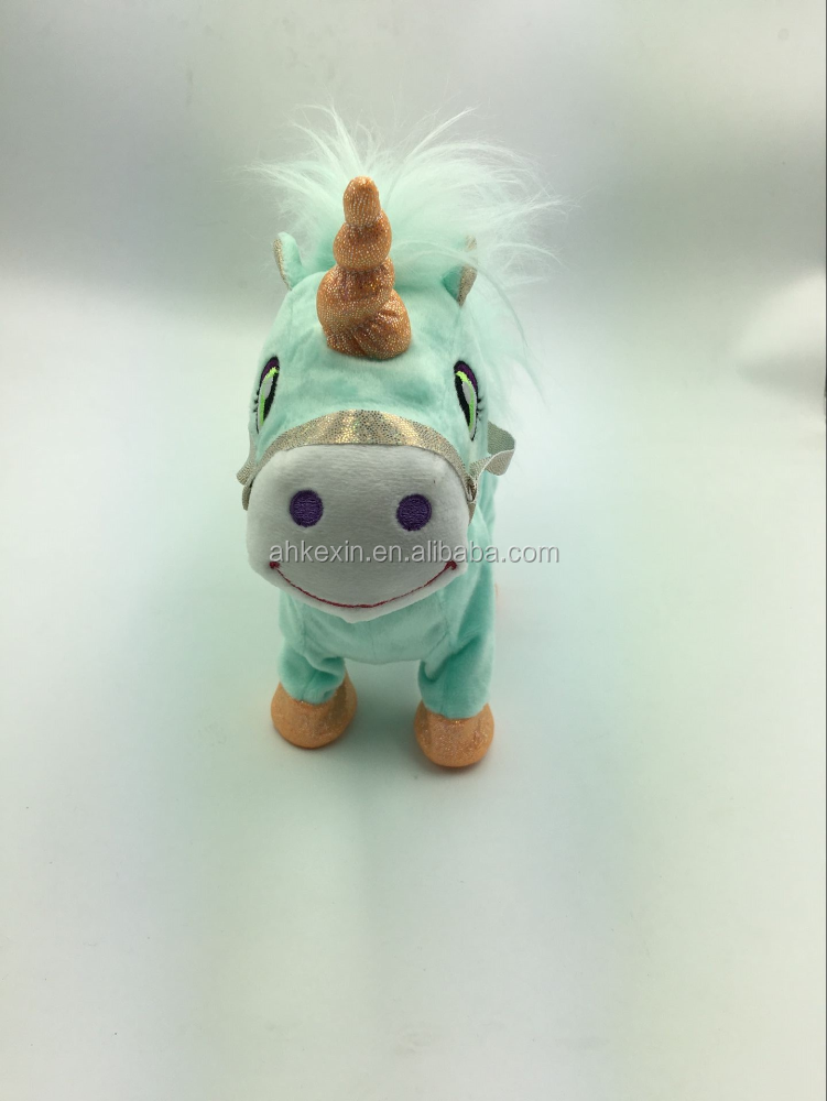 Wholesale Lovely plush toys animal horse electric walking horse