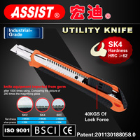 9mm blade SK4 blade utility knife pocket knife ABS+TPR case cutter blade HRC>62 snap-off knife Stationery Cutter