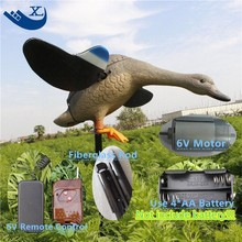2017 Xilei Artificial PE Duck Hunting Duck Decoy Pool Plastic Craft Home Garden Decor Ornament With Spinning Wings