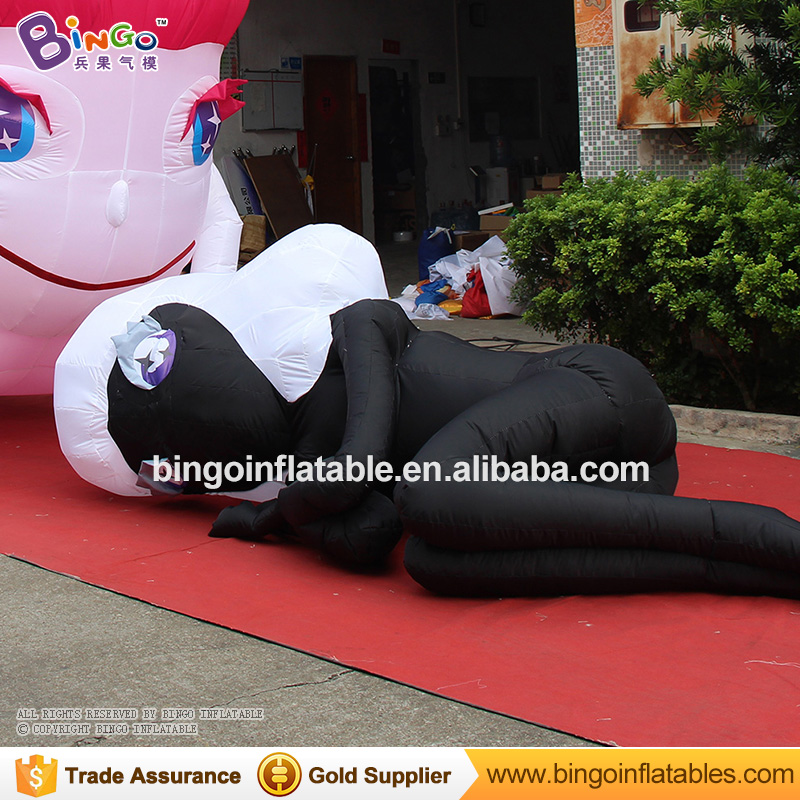 Inflatable black lady model/inflatable cartoon character for party/show