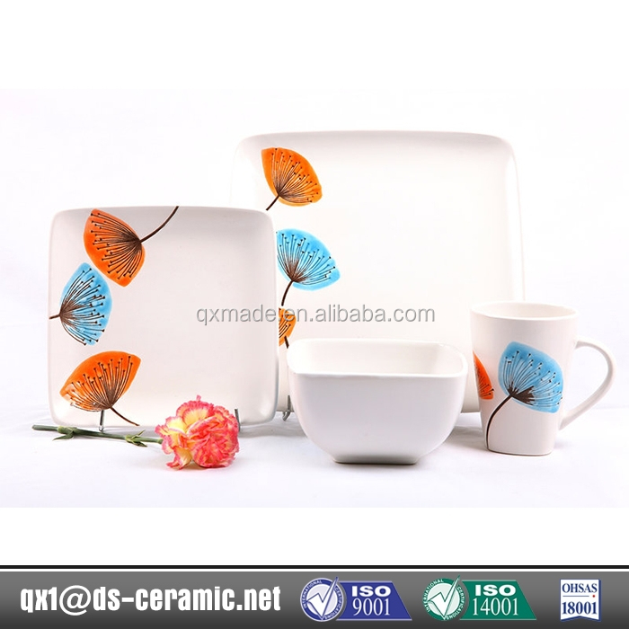 Newest design high quality stoneware opal ware dinner set