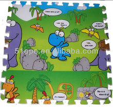 Double- sides Printing Baby play EPE foam puzzle mats