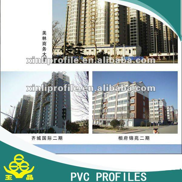 UPVC profile/extruded pvc profile for sliding and casement window and door