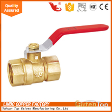 China made 3/4''inch NPT Thread brass ball valve with iron