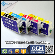 T2201 T2202 T2203 T2204 ink cartridge for Epson WF-2630 WF-2660 refillable cartridge