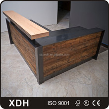 Modern wood office front desk hotel reception counter