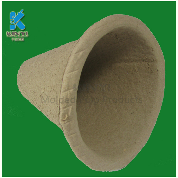 Molded pulp recycled paper biodegradable plant pots