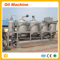 High quality mini corn or peanut oil refining plant/small sunflower oil refining machine/rapeseed oil refined machine