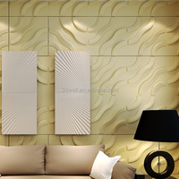 Green material easy diy 3d texture wall panels for hotel decoration