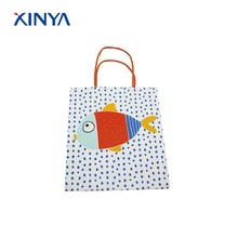 Large sell special color printed white shopping paper twisted handle gift bags for goods